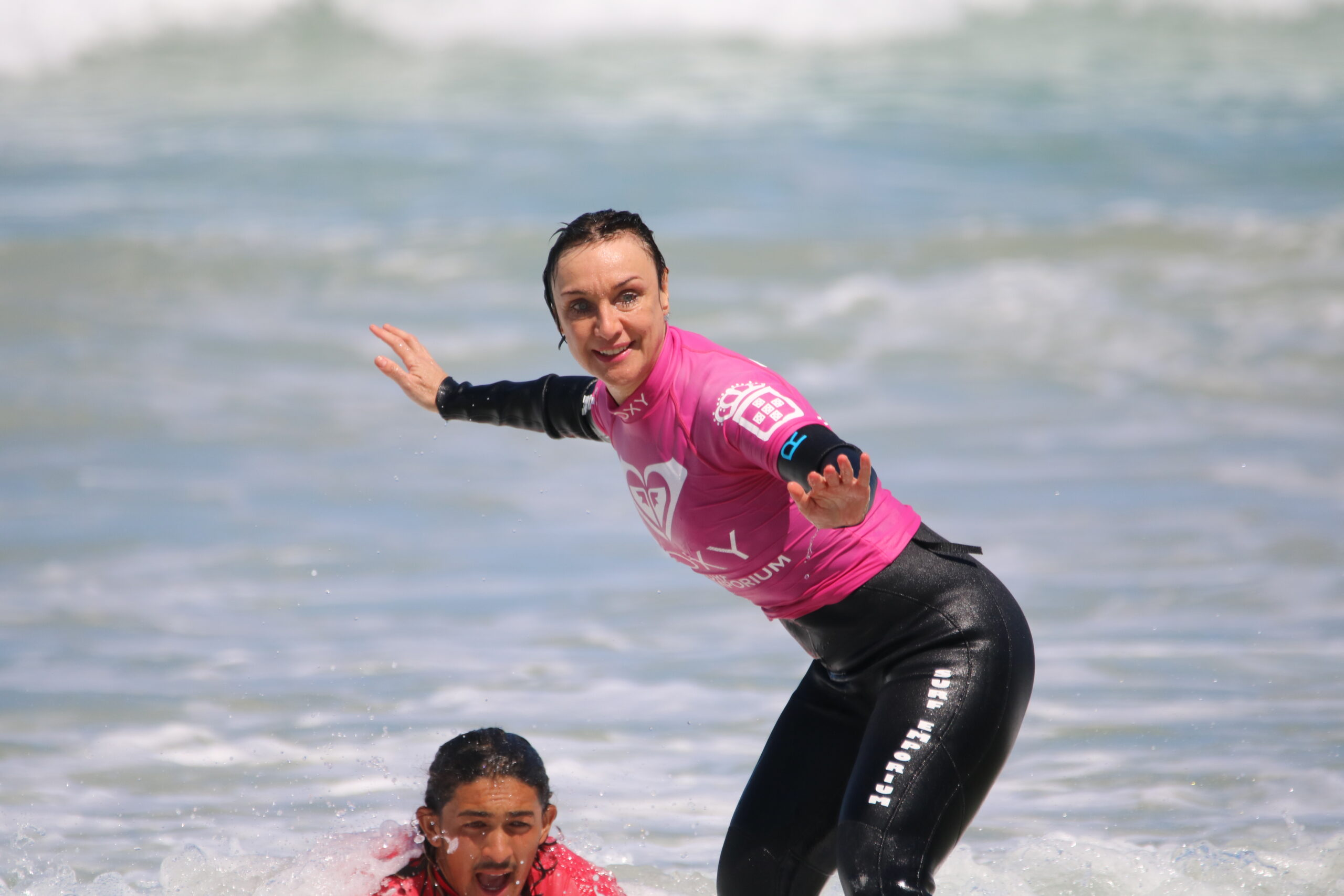 Visually Impaired surfer